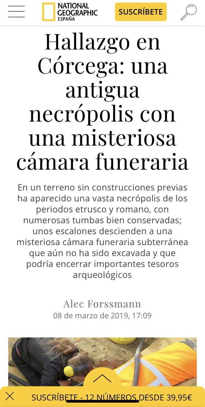 """La """"mystérieuse"""" tombe d'Aleria fait la une de la presse étrangère"""