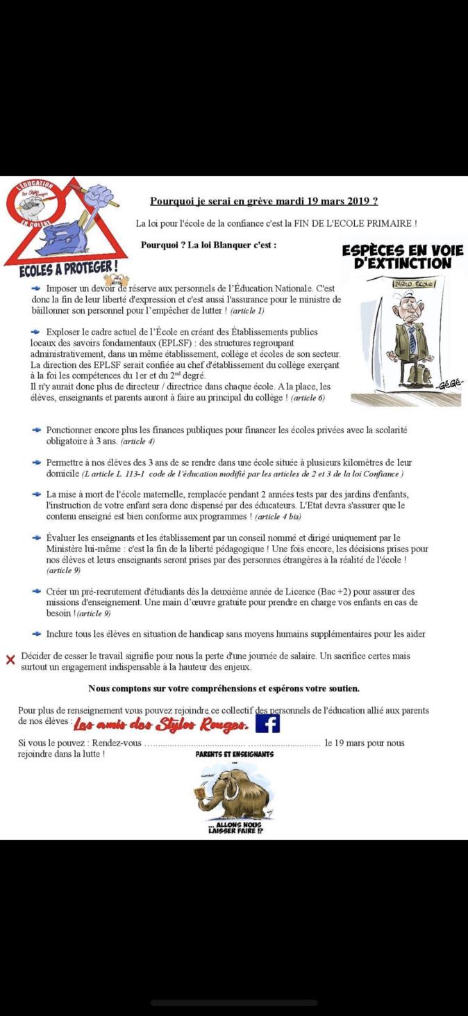 Grève du 19 mars : 54 % de grèvistes chez les professeurs des écoles corses