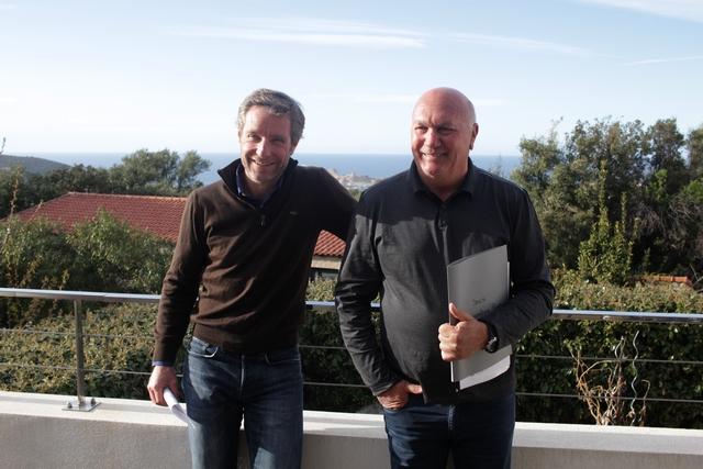 Bernard Giudicelli (à gauche) et André D'Oriano