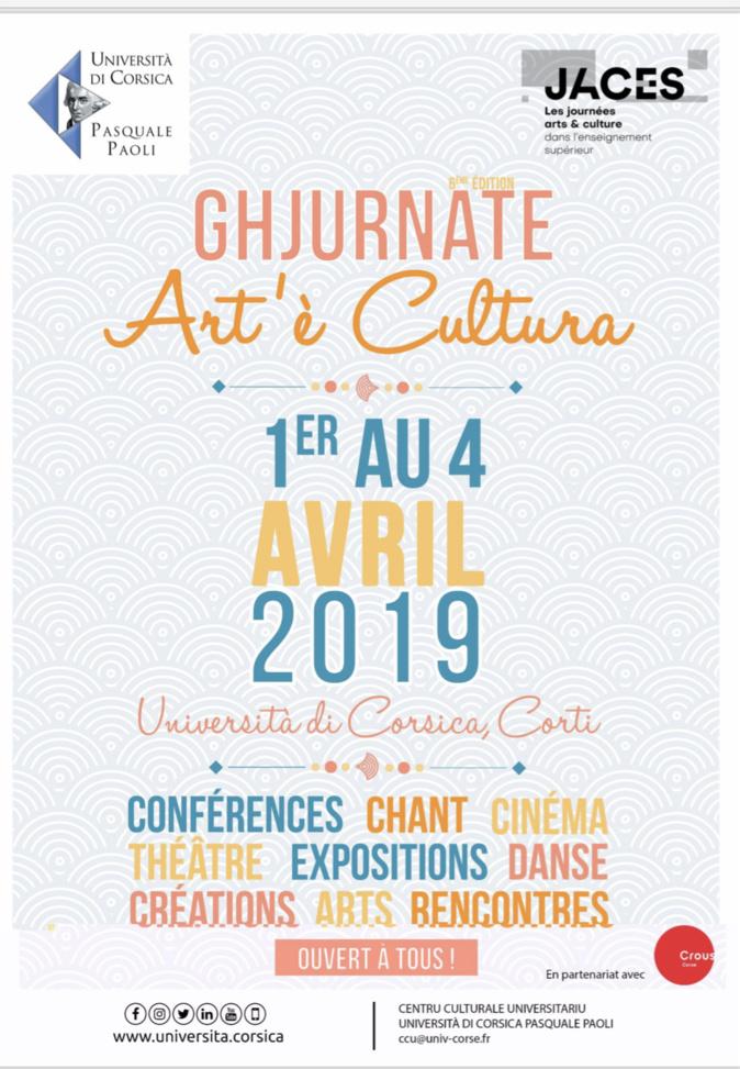 Ghjurnate Art'è Cultura à l'Università di Corsica