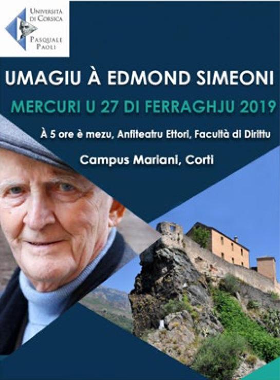Hommage à Edmond Simeoni lundi 25 à l'Université de Corte