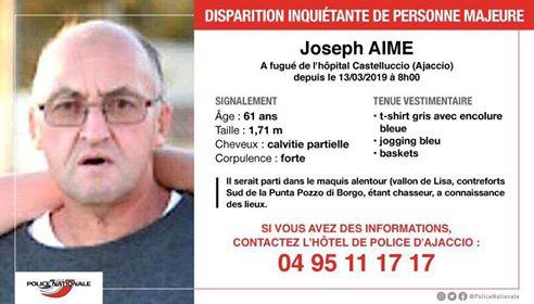 Huit jours après la disparition de Joseph Aimé, la famille veut garder espoir