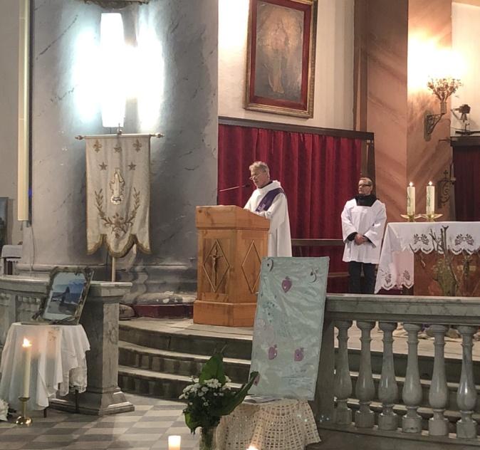 Messe à l'Ile-Rousse en mémoire de Julie