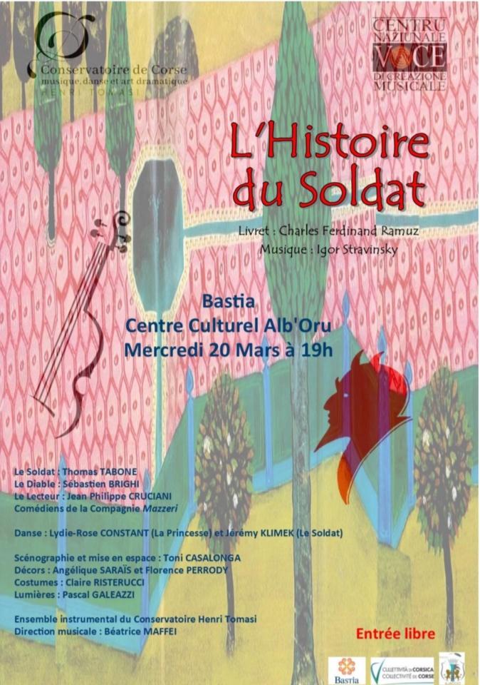 Le conservatoire Henri Tomasi et le centre culturel Voce mettent à l'honneur Ramuz et Stravinsky