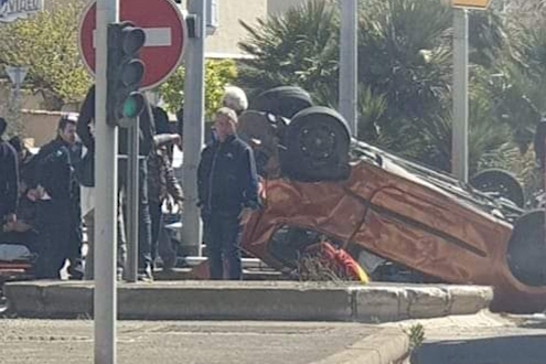 Ajaccio : Spectaculaire accident à Saint-Joseph