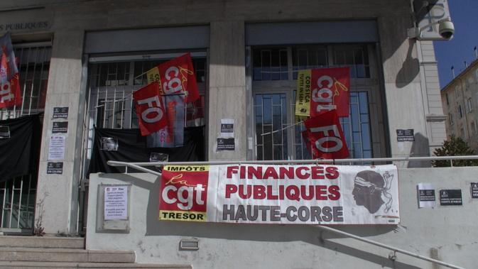 Nouvelle mobilisation des agents des finances publiques jeudi matin à Bastia devant la direction générale