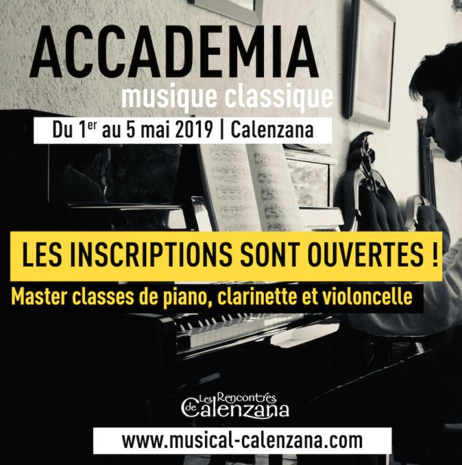 Inscriptions pour une accademia de musique classique à Calenzana