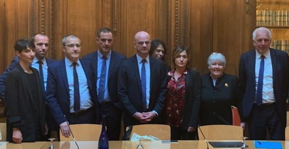 La délégation corse reçue par Jean-Michel Blanquer au ministère de l'Education.