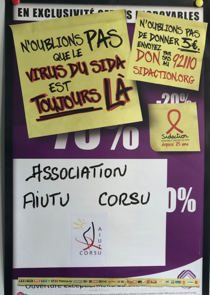 L'Association Aiutu Corsu se mobilise pour le Sidaction
