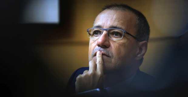 Jean-Guy Talamoni, président de l'Assemblée de Corse et leader des Indépendantistes. Photo Michel Luccioni.