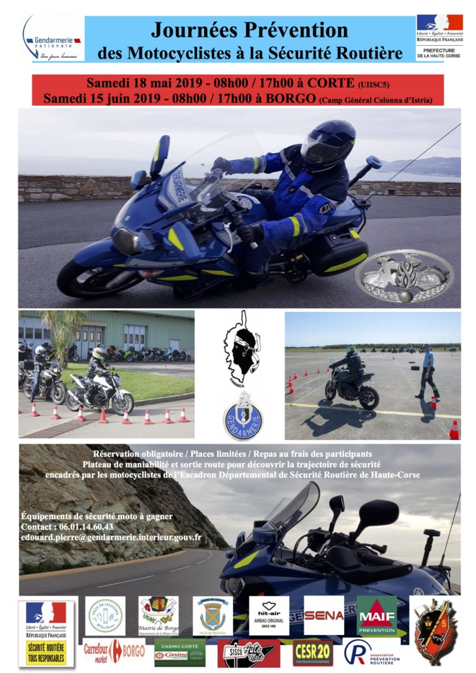 Les motards acteurs de leur sécurité à Corte et Borgo