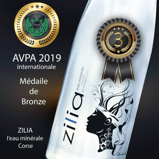 Médaille de Bronze pour les Eaux de Zilia