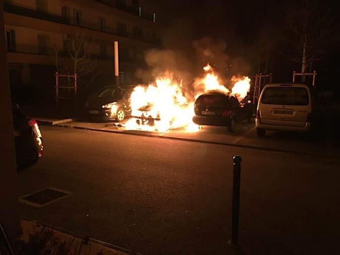 A Ajaccio, voitures en feu à Binda