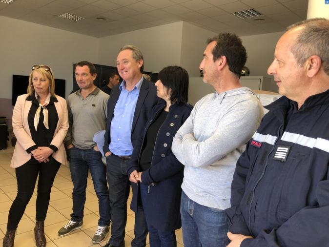 Le SIS 2B visite la caserne provisoire des sapeurs-pompiers de Lisula