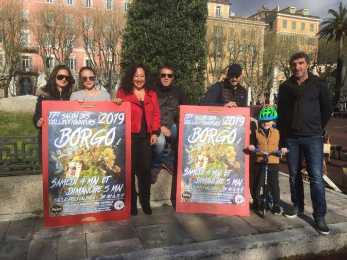 Valerie Cavalli, au centre, a présenté son 17ème salon qui aura lieu les 4 et 5 mai prochains à Borgo