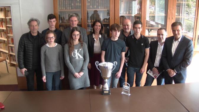 Julie Benetti a félicité les élèves du lycée Giocante et du collège Giraud pour leurs victoires aux Championnats de France d'échecs