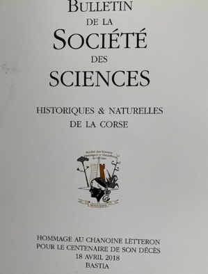 Bulletin de la Société des Sciences historiques et naturelles de la Corse : Hommage au chanoine Letteron