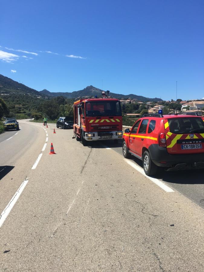 Un accident de la route à Munticellu fait trois blessés