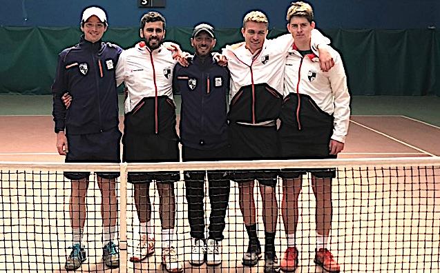 De gauche à droite : Guillaume Bezert, Laurent Gueit, Jeremy Pagliai, Arnaud Capel et Lilian Prd'homme