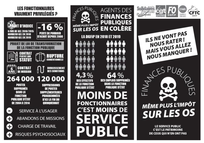 Ajaccio : L'intersyndicale des finances publiques continue à défendre le maintien des services de proximité