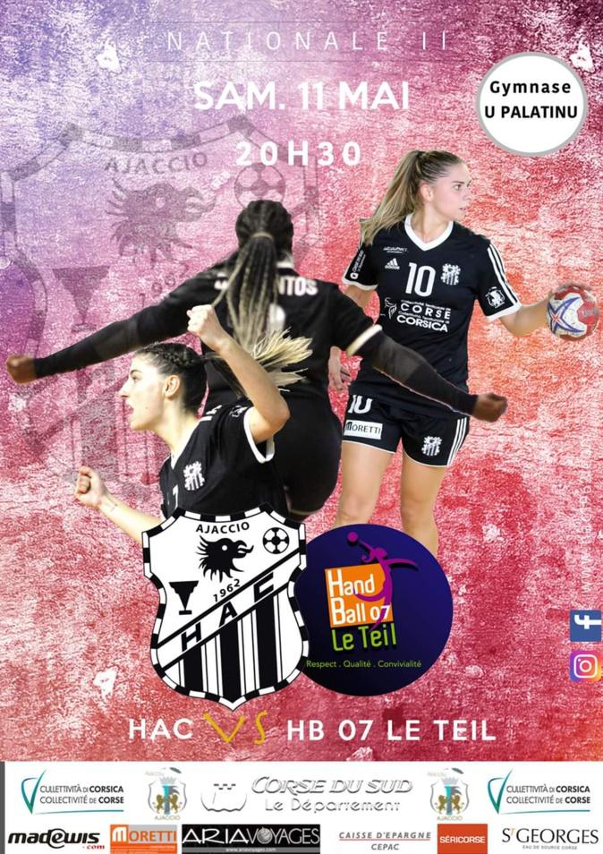 Handball N2 Féminin : Ce samedi le HAC rencontre Le Teil au Palatinu d'Ajaccio