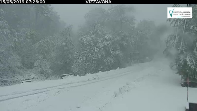 Vizzavona : la neige au rendez-vous du mois de... Mai