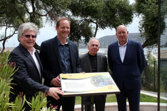 Porto-Vecchio :  la place commémorant le départ du 100e Tour de France a été inaugurée