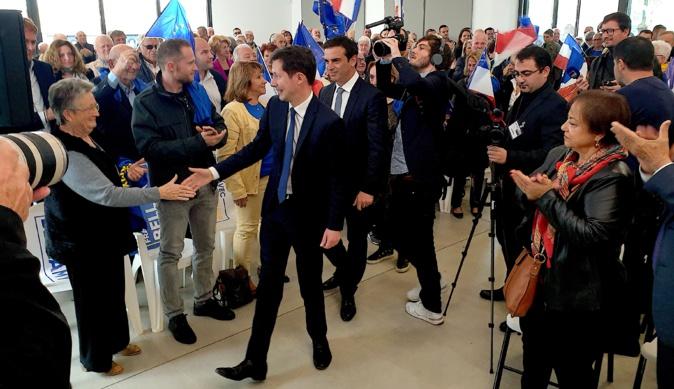 François-Xavier Bellamy, tête de liste LR aux Européennes en visite en Corse