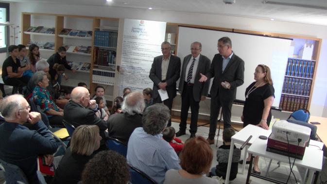 Pierre Savelli, maire de Bastia, Philippe Peretti, son adjoint délégué au patrimoine, Linda Piazza, responsable de la bibliothèque patrimoniale et organisatrice de la journée, et d'autres intervenants ont rendu hommage au grand géographe Pierre Simi.