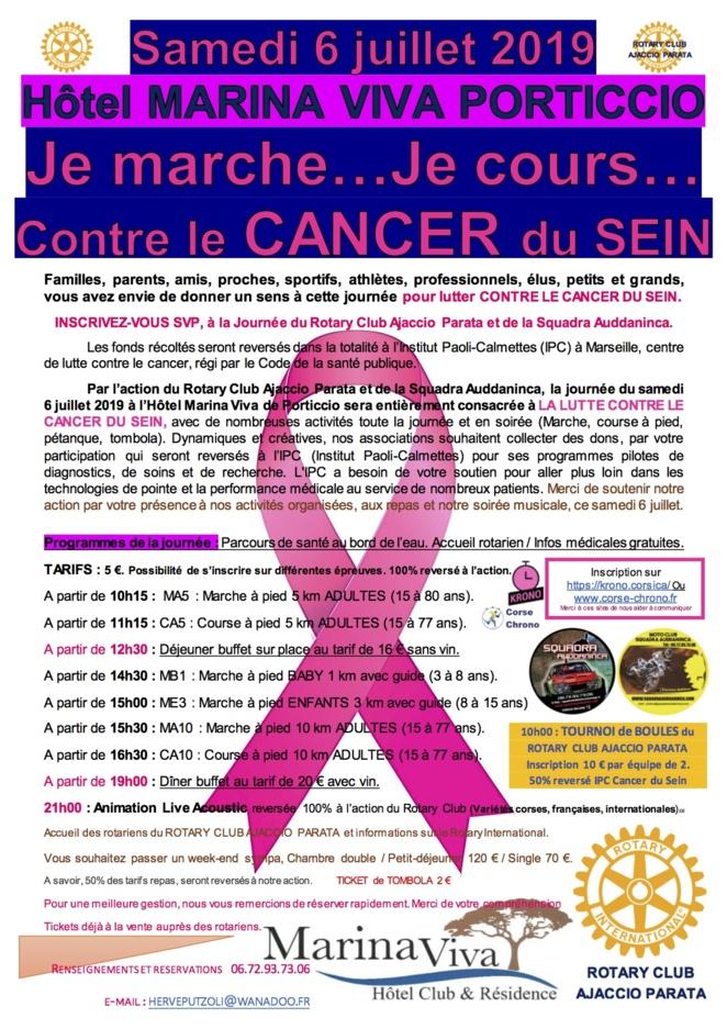 Une course contre le cancer du sein le samedi 6 juillet 2019 à Porticcio