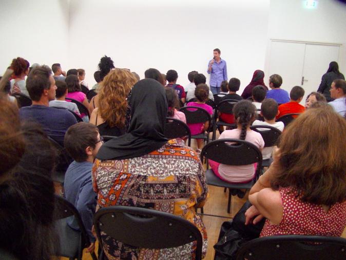 Philippe Frasseto a présenté le projet fini aux élèves et parents