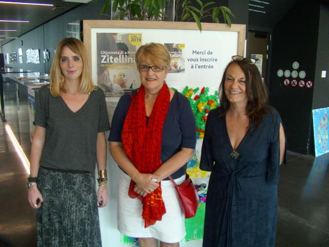 Anne-Sophie Rochegude et Ranka Bijeljac-Babic aux cotés d'Ivana Polisini pour la 4ème édition de la journée de la Petite enfance à Bastia