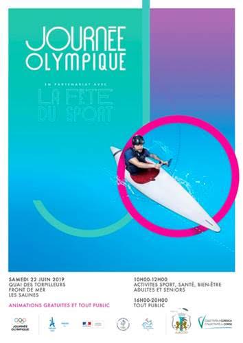 La « Journée olympique ajaccienne 2019 » c'est samedi 22 juin