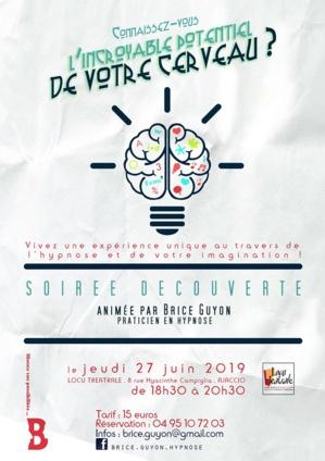 """""""L'incroyable potentiel de votre cerveau"""" : une  soirée découverte de l'hypnose à Ajaccio"""