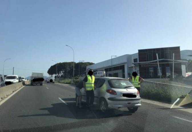 Un accident de la circulation provoque un gros embouteillage à Furiani