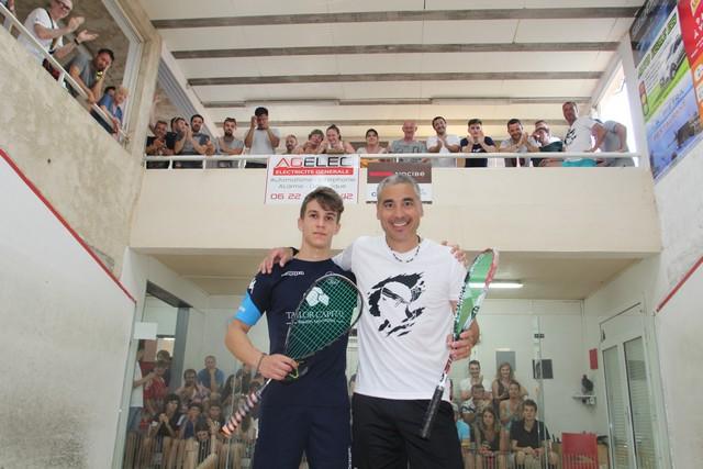 Open international de Squash Ile-Rousse: Finales Lincou- Hennard chez les hommes  et Boden-Barbeau chez les femmes