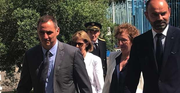 Le Premier ministre, Edouard Philippe, et le président du Conseil exécutif de Corse, Gilles Simeoni.