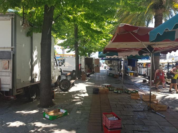 Les commerçants du marché d'Ajaccio forcés de fermer plus tôt à cause de la visite du Premier ministre