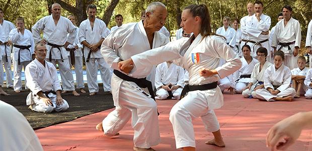 """""""Hidé"""" avec Alexandra Ferracci lors d'un stage à Borgo"""