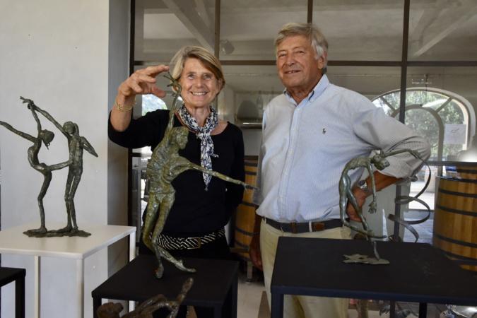Claudine Kanengieser expose à la cave du domaine d'Alzipratu