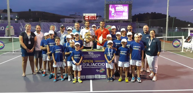 Tennis : Laurent Lokoli remporte son premier Open d'Ajaccio