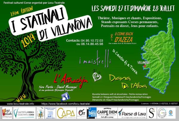 Le Festival I Statinali di Villanova revient les 27 et 28 juillet