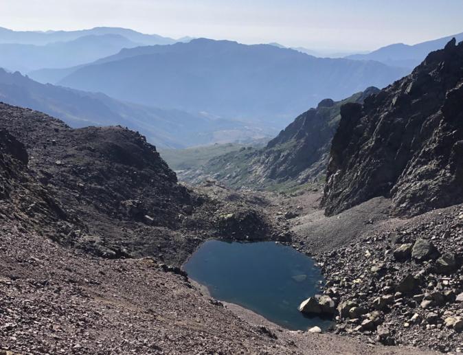 La photo du jour : le lac du Cintu depuis Bocca crucetta