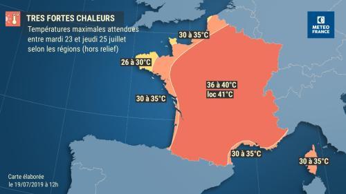 Le retour de la canicule et la tendance de Météo France