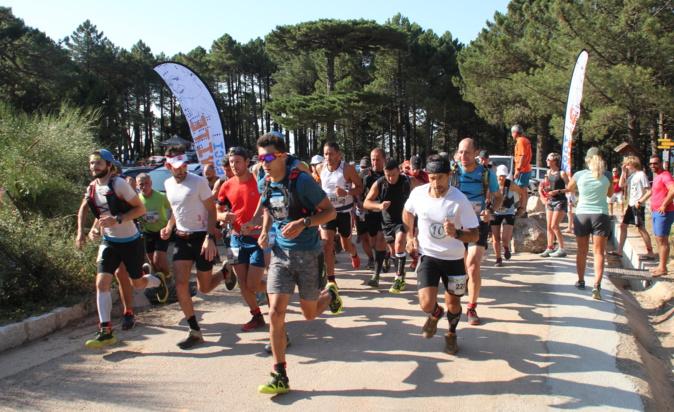 Le départ de la course des 16 kilomètres