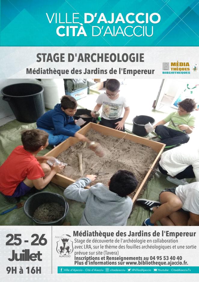 Ajaccio : tage archéologie et Murder Party à la Médiathèque des Jardins de l'Empereur