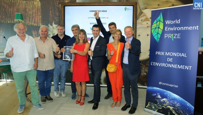Les principaux chefs d'entreprises corses partenaires du World environment prize. photo- Michel Luccioni