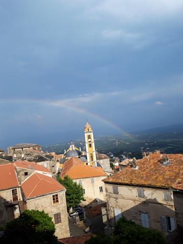 La photo du jour : Arc en ciel sur Cervione après l'orage