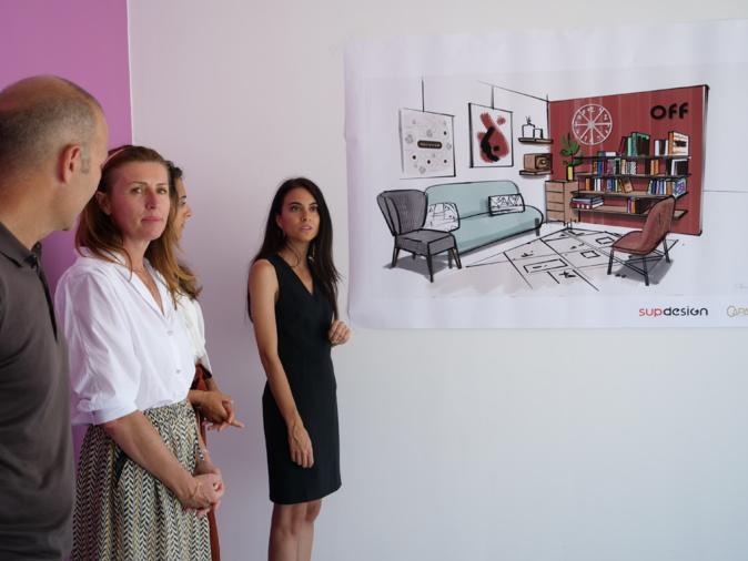 Marina Martelli et Marie-Antoinette Santoni-Brunelli en pleine visite des lieu