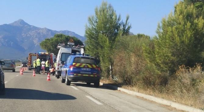 Un cycliste renversé sur la route de l'aéroport à Calvi